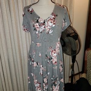 Torrid floral skater dress sz 1